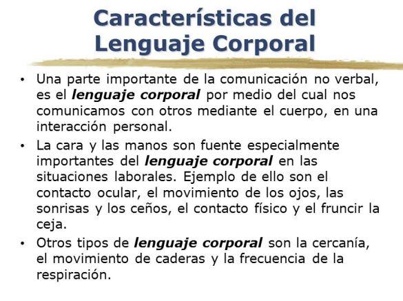 Características del lenguaje corporal