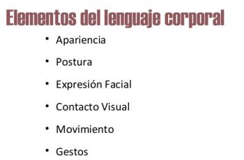 Elementos del lenguaje corporal