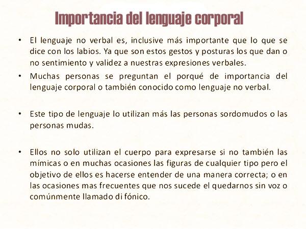 Cuál es la importancia del lenguaje corporal