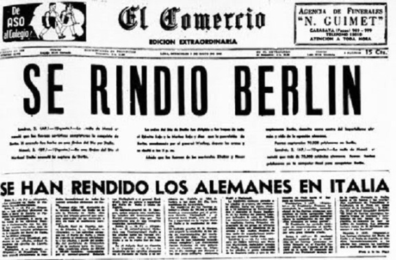 ¿Qué día se rindieron los alemanes en la segunda guerra mundial?
