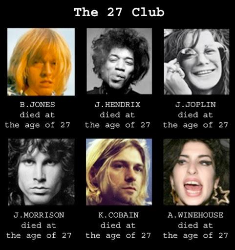 El Club de los 27: Una maldición tenebrosa